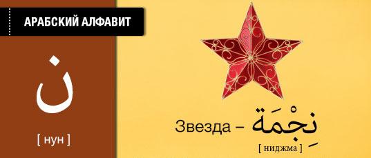 Звезда на арабском языке. Карточки арабского языка.
