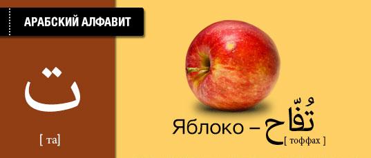 Яблоко на арабском языке. Карточки арабского языка.