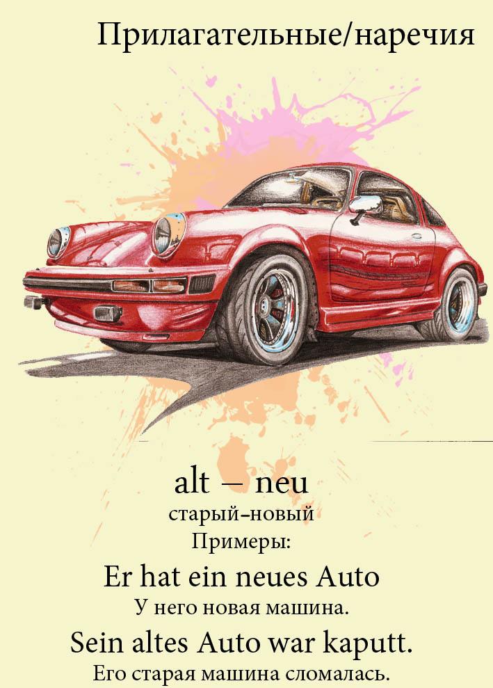 Прилагательные и наречия немецкого языка