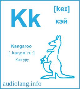 Английский алфавит буква K.