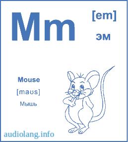 Английский алфавит буква M.