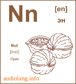 Английский алфавит буква N.