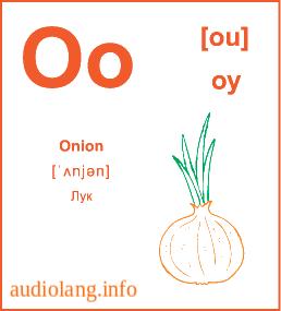 Английский алфавит буква O.