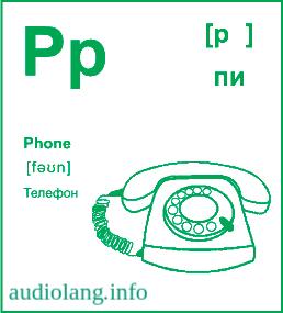 Английский алфавит буква P.