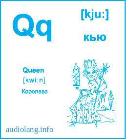 Английский алфавит буква Q.