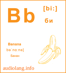 Английский алфавит буква B.