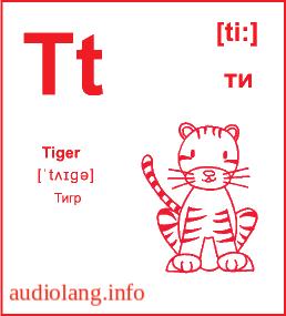 Английский алфавит буква T.