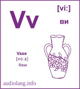 Английский алфавит буква V.