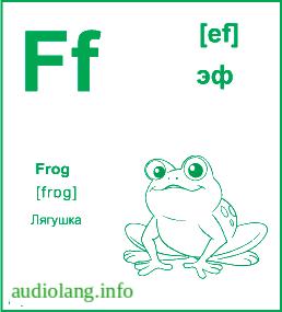 Английский алфавит буква F.