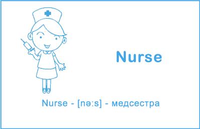 Медсестра на английском языке