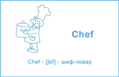 Шеф-повар на английском языке