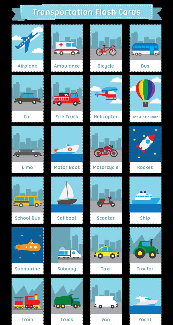 Карточки - транспорт