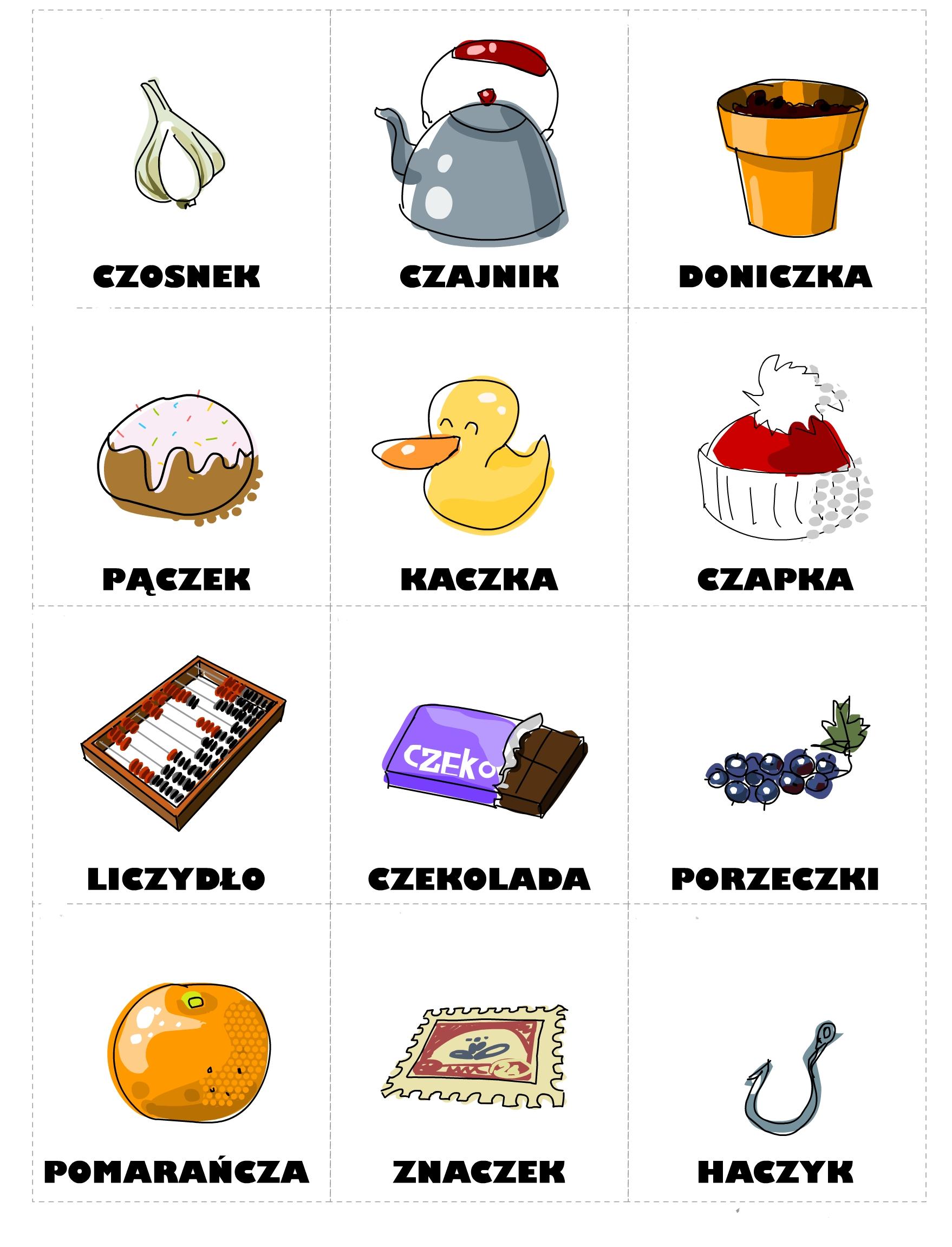 Карточки по польскому языку