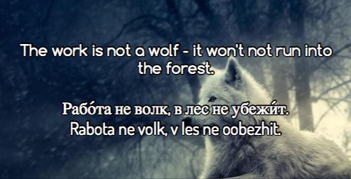 Russian sayings