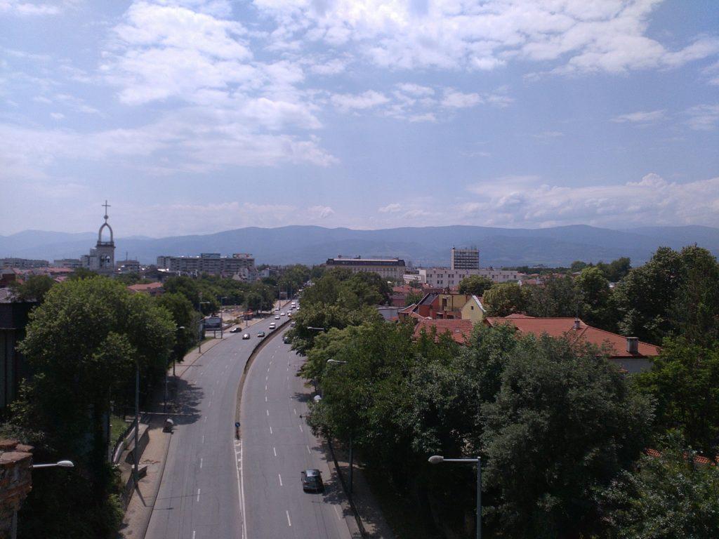 Вид на горы в Пловдиве