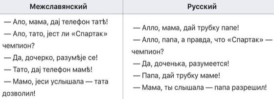 Межславянский язык